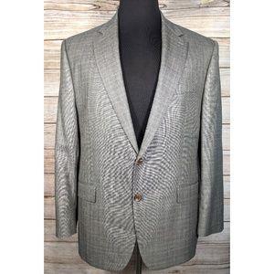 Ralph Lauren Sport Coat Mens 46R Wool Silk Gray